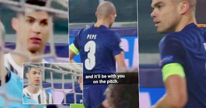 Was Cristiano Ronaldo zu Pepe sagte, bevor Porto Juventus aus der Champions League schoss