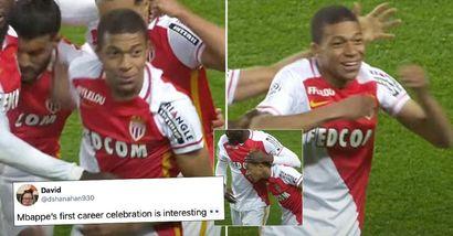 La prima esultanza del gol di Mbappe diventa virale: i fan pensano che sia un segno che il suo prossimo club sarà il Liverpool