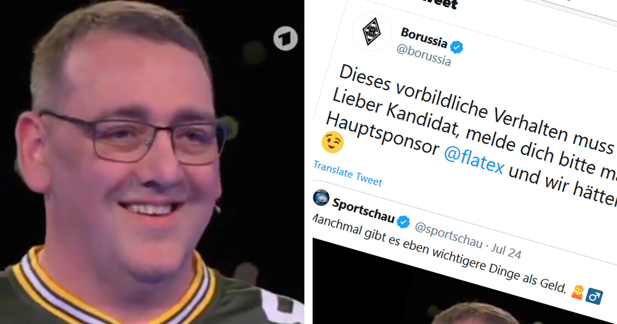 Borussia M'gladbach decide to reward fan who didn't want to mention rival's on TV for his 'exemplary behaviour'