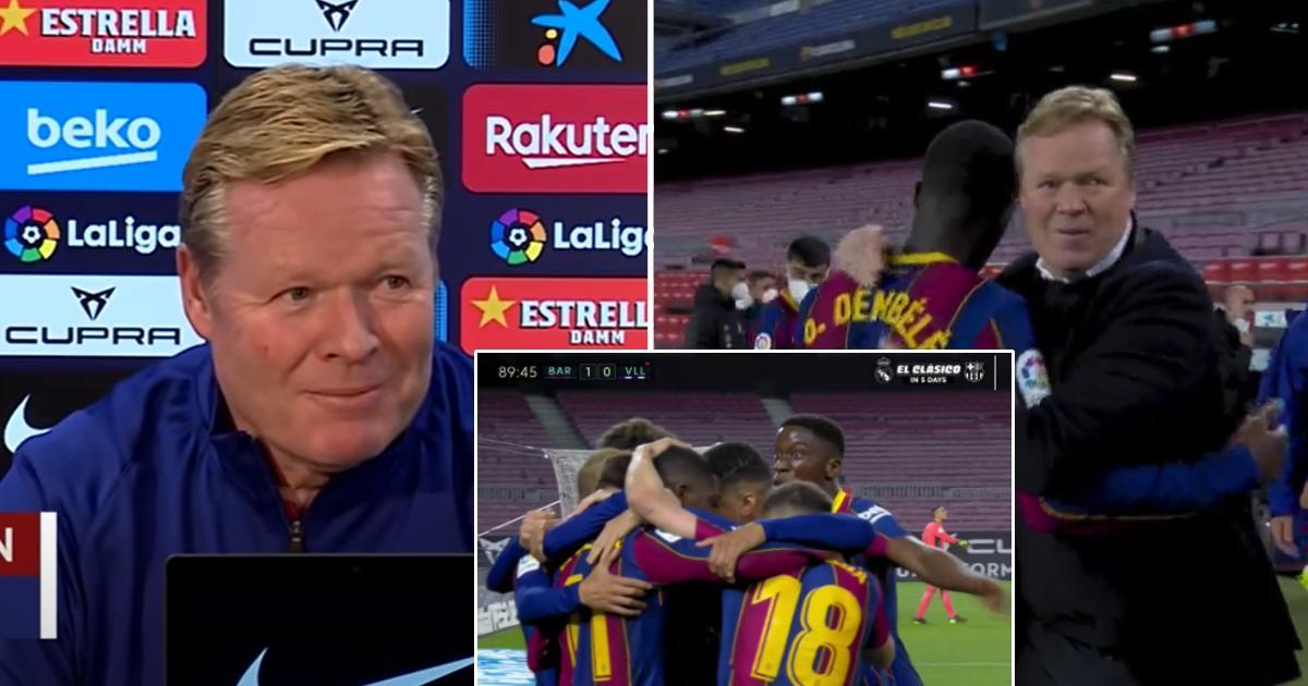 كومان : أريد بقاء ديمبيلي في برشلونة ، إنه لاعب رئيسي بالنسبة لنا