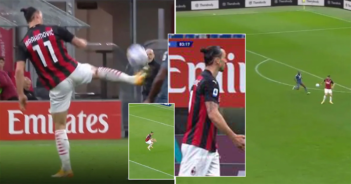 Ibra-magic. Zlatan produces phenomenal pass out of nothing, immediately gets angry with teammate