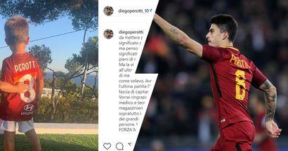 """Il commovente saluto di Perotti: """"Questa foto spiega cos'è Roma e la Roma per me. Ho dato il massimo. Forza Magica!"""""""