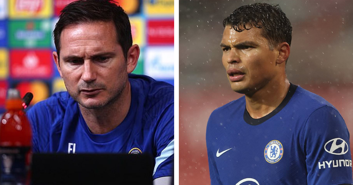 'We made a choice to protect Thiago': Frank Lampard explains decision to omit Silva from Chelsea squad for Krasnodar game
