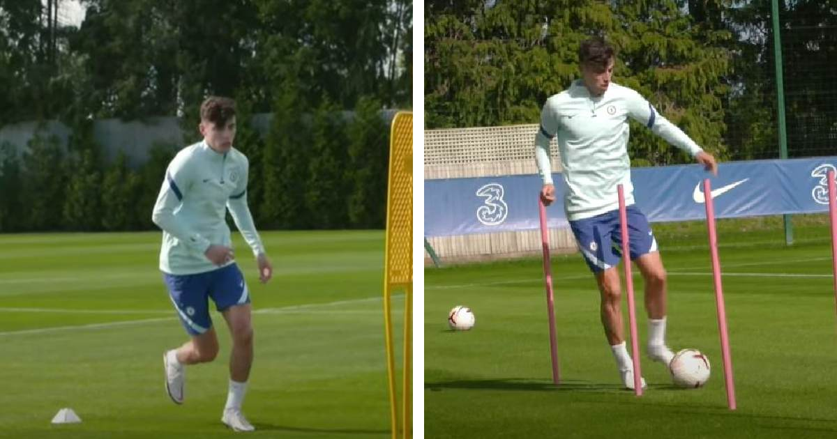 New signing Kai Havertz complete first training session with Chelsea (video)