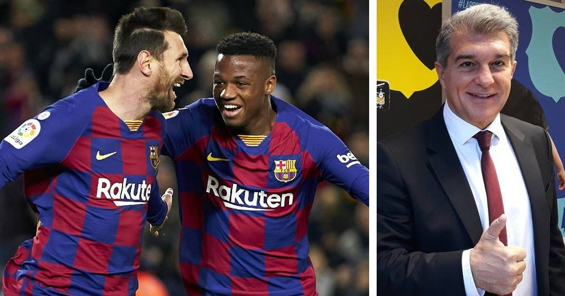 Joan Laporta explains why it's wrong to call Fati 'the new Messi'