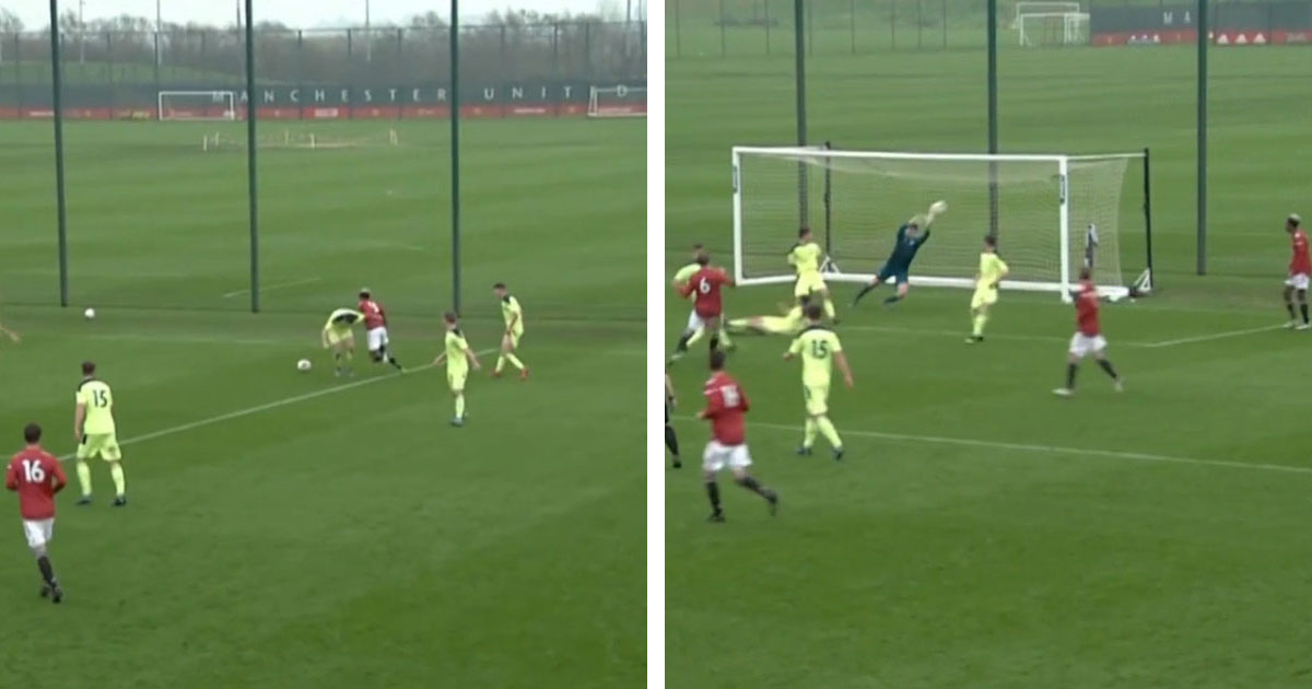 Young winger Noam Emeran produces insane assist to create Charlie Savage's goal for United U18 in win over Newcastle U18