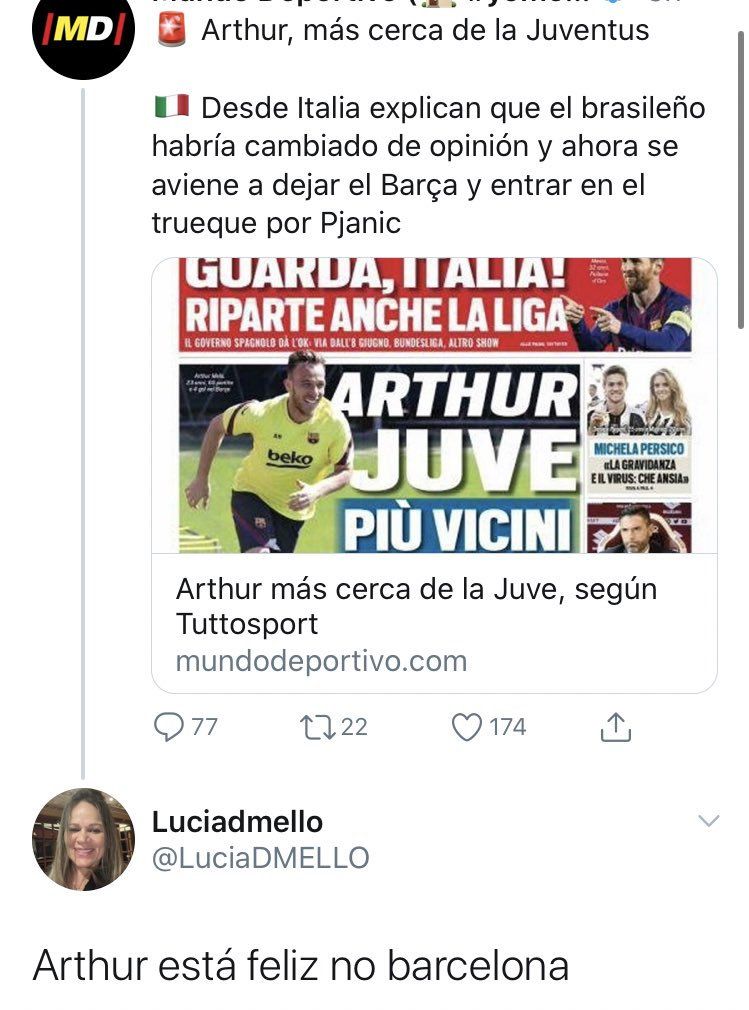 He Is Happy At Barcelona Arthur S Mother Lucia Takes To Twitter To Deny Juventus Rumours