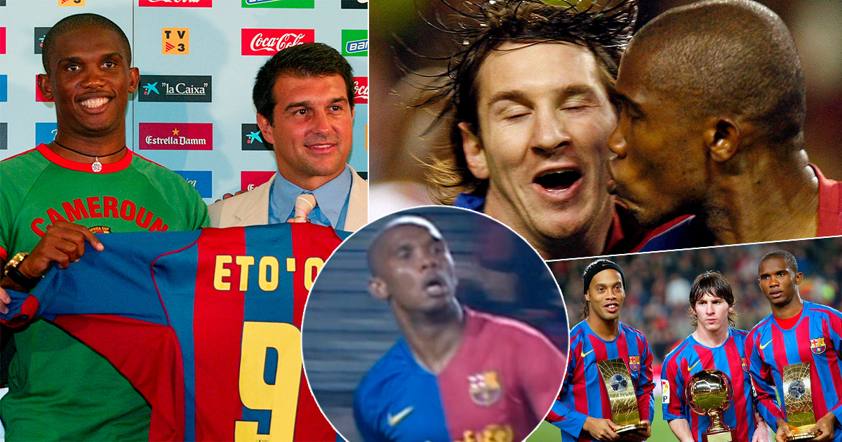 How Samuel Eto'o reacted to joining Barca after negotiations that were 'cause for pride' for Blaugrana