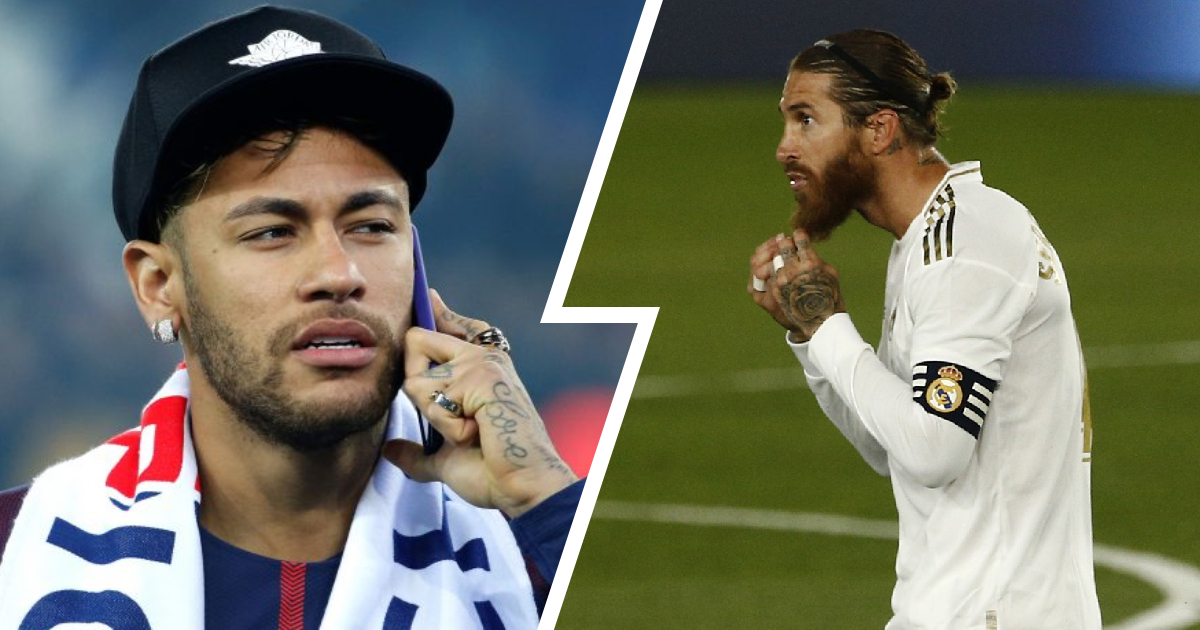 Details of Neymar's rumoured phone call to convince Sergio Ramos to join PSG