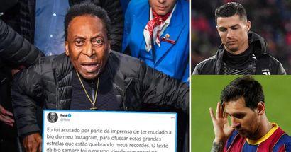Pele reagiert auf die Anschuldigungen, die Instagram-Bio geändert zu haben, um Messi und Ronaldo zu ärgern