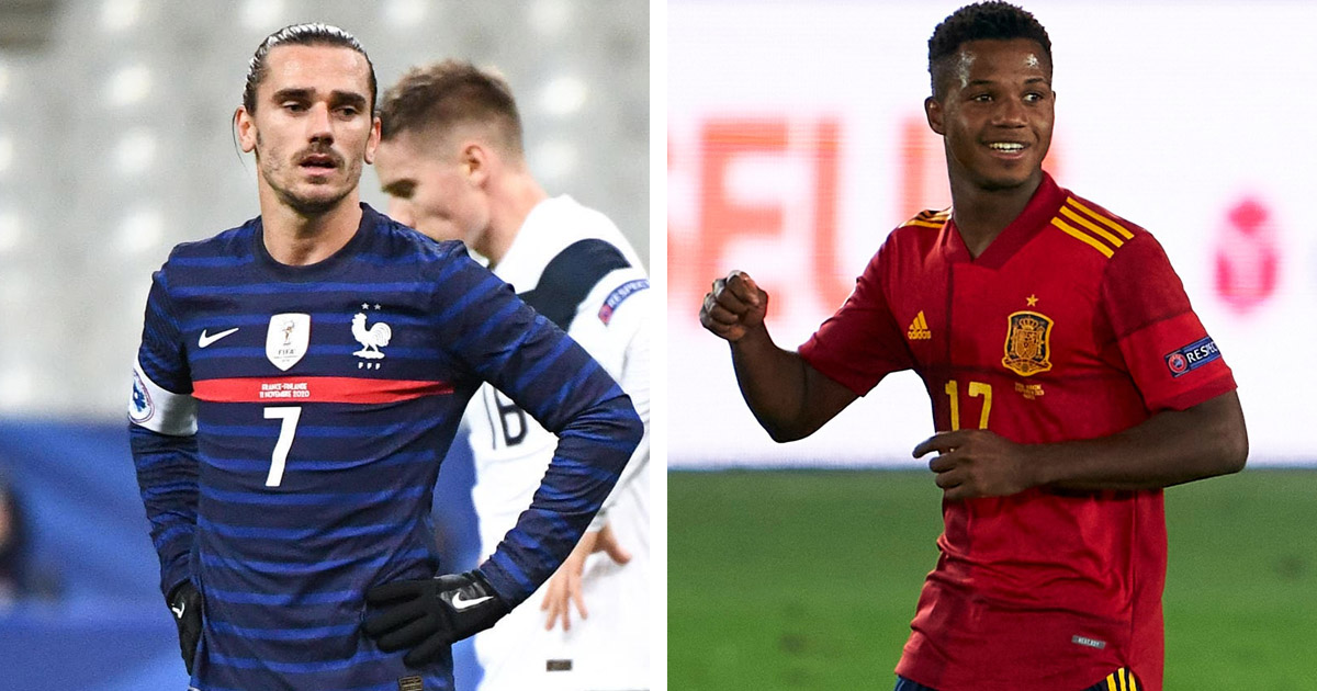 Two Barcelona stars Fati and Griezmann included in WhoScored's Nations League group stage best XI