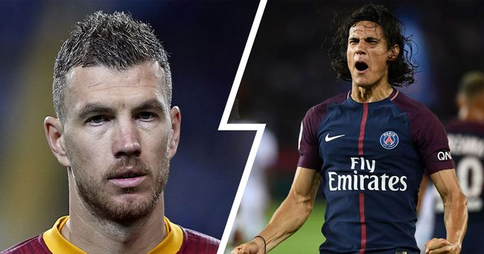 """Dzeko """"bloccato"""" a Roma, Cavani si offre ai giallorossi: il futuro dell'attaccante bosniaco non è ancora deciso"""