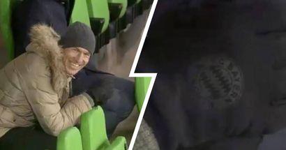 Entdeckt: Arjen Robben trägt immer noch Handschuhe mit Bayern-Vereinswappen!