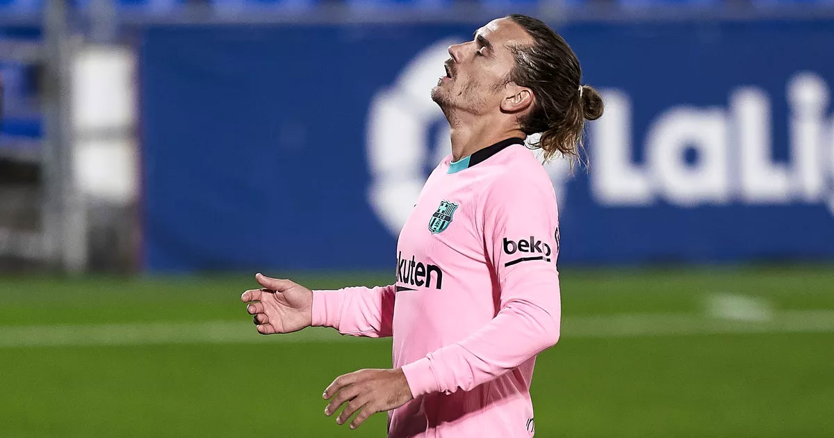 Forget goals and assists – Griezmann's shots on target stat looks gloomy over last 17 games under 2 coaches