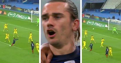 Just in: Antoine Griezmann scores fabulous goal as France opens scoring vs Ukraine