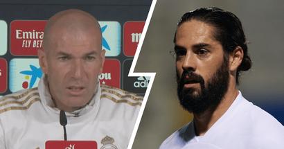 Zinedine Zidane: 'It's notIsco's fault if he doesn't play'