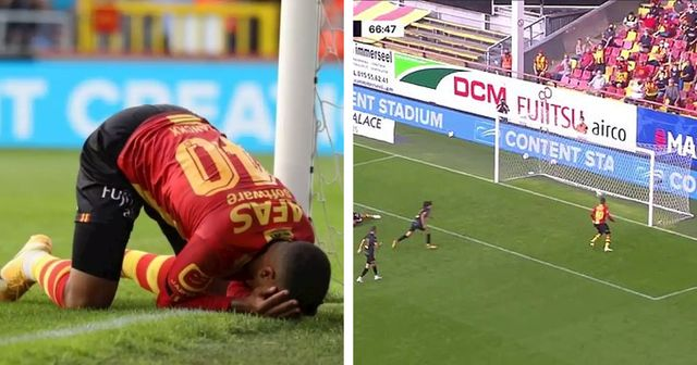 Miss of the season? Midfielder of Belgium top-flight club misses an open goal from two yards