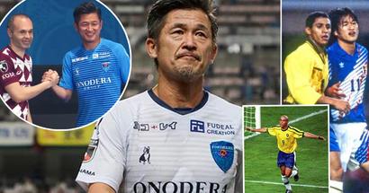 Der 53-jährige Kazuyoshi Miura unterzeichnet einen neuen Vertrag. Es stellt sich heraus, dass er sogar gegen Ronaldo gespielt hat