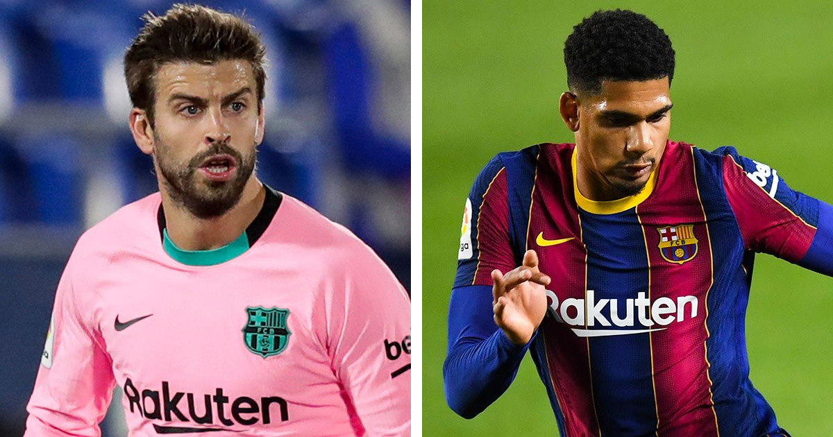 Koeman says Pique's red was 'too harsh a punishment' but trusts Araujo to do well vs Juventus