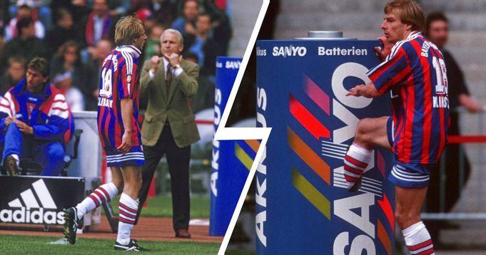 Heute Vor 23 Jahren Der Legendare Tonnentritt Von Jurgen Klinsmann