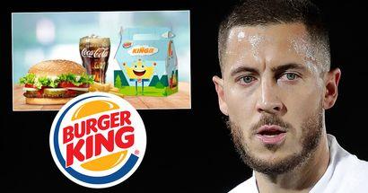 Burger King trolla brutalmente Eden Hazard dopo aver saltato l'allenamento del Real Madrid