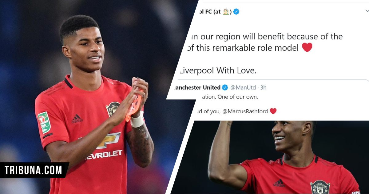 Remarkable Role Model Liverpool Thank Marcus Rashford After Uk Government Extends Food Voucher Scheme