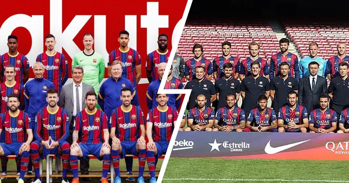 Piqué signale Neymar sur la photo de l'équipe de Barcelone 2020/21