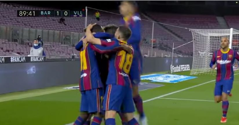 King of late goals: Barca have scored 19 goals in the last 10 minutes of their games this season - logo