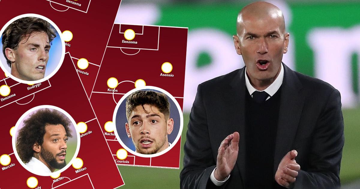 Odriozola  موجود ؟ خطر وجود فالفيردي؟ اختر تشكيلة مدريد الخاصة بك لمواجهة ليفربول من بين 3 خيارات!