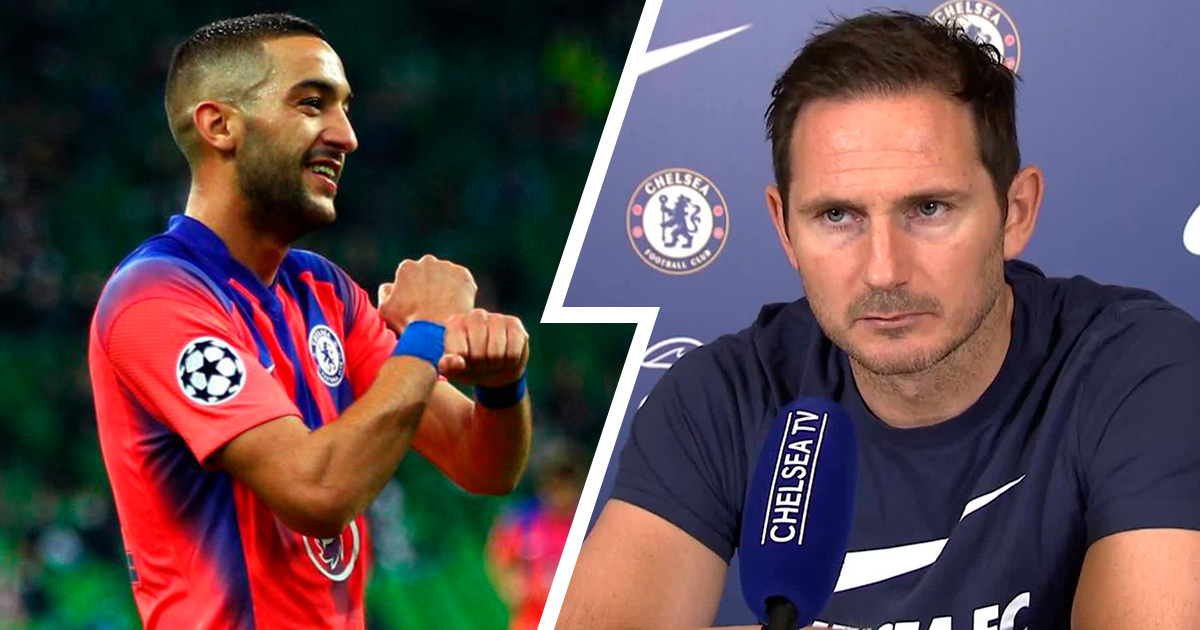 Frank Lampard rates Ziyech's performance against Krasnodar, explains what Hakim brings to Chelsea
