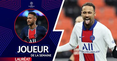 🌟 OFFICIEL: Neymar a remporté le prix du joueur de la semaine en UEFA Champions League