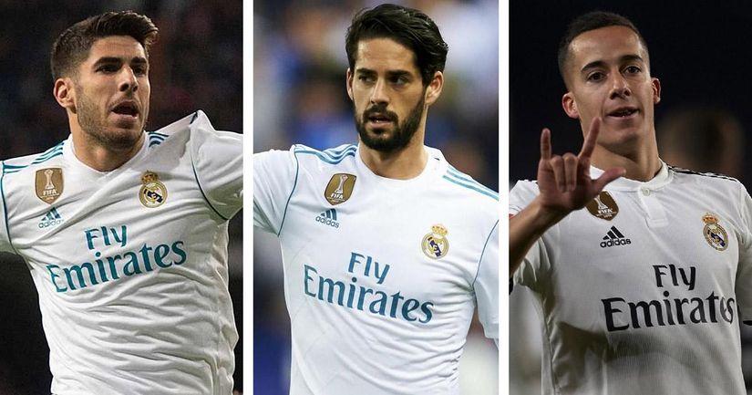 """Isco un meneur de jeu """"pathétique'', Asensio même pas une option du banc de touche, Vazquez bonne option d'urgence: commentaires d'un fan sur le trio flop de Madrid - logo"""