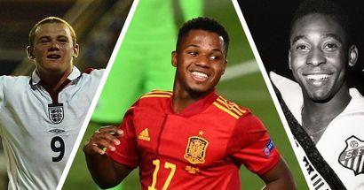Fati rejoint Rooney, Maradona et Pelé parmi les plus jeunes buteurs internationaux
