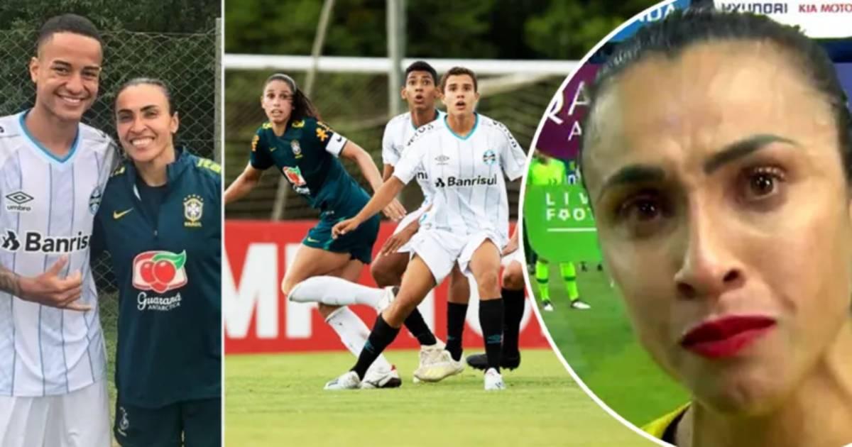 El Gremio sub16 golea 6-0 a la selección femenina de Brasil, capitaneada por la famosa Marta