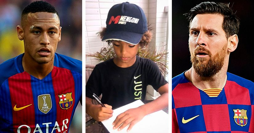 8-year-old beats Messi and Neymar to become youngest athlete to sign Nike contract - logo