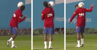 Étonnant: Ansu Fati canalise son Ronaldinho intérieur à l'entraînement (vidéo)