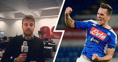 """""""Milik alla Roma con Dzeko? Il polacco verrebbe al 100%"""", AS non ha dubbi sulla volontà dell'attaccante del Napoli"""