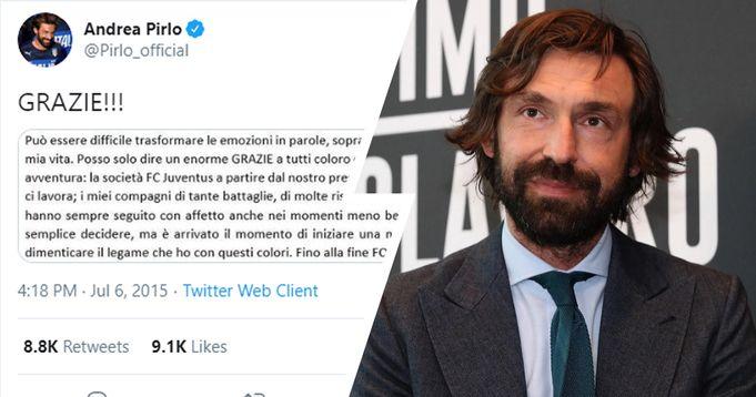 Esattamente 5 anni fa' Pirlo salutava la Juventus: adesso è pronto a tornare a casa per diventare il Guardiola bianconero - logo