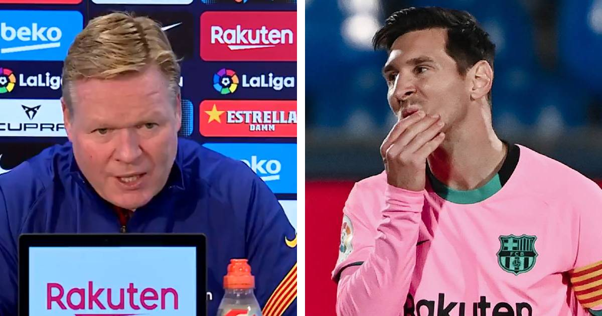 Koeman: 'I don't see Messi outside Barcelona, no more questions'