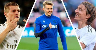 Grandes ocasiones creadas, goles y más: ¿dónde se encuentra Odegaard entre los centrocampistas del  Madrid?