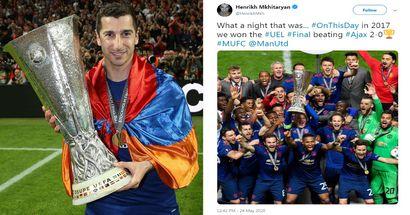 'He said we won': Man United fans troll Arsenal over Henrikh Mkhitaryan's Europa League tweet
