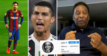 """""""È senza vergogna"""": Pelé risponde ai record di gol segnati di Ronaldo e Messi ed i tifosi non perdonano"""