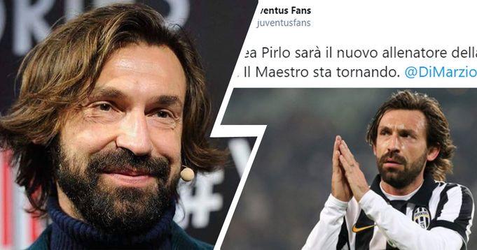 Pirlo torna alla Juve e i tifosi impazziscono sul web: alcuni lo vogliono in panchina, altri addirittura lo rivorrebbero in campo!