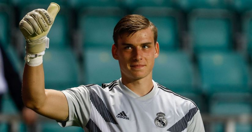 Andriy Lunin could make his Real Madrid debut after almost 1,000 days at club - logo