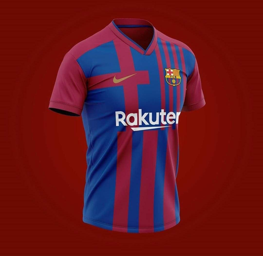 Barca S Home Kit For 2021 22 Season Gets Leaked And Cules Already Hate It With All Their Soul