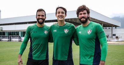 Alisson welcomes fellow Brazilian Marcelo Pitaluga to Liverpool - and they already have some history