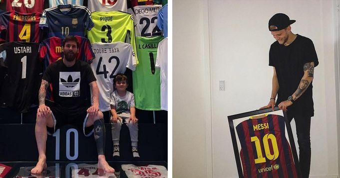 'Obligado' a poner esto en la pared: cómo un jugador de Copenhague reaccionó brillantemente al ver su camiseta en la colección de Leo Messi - logo