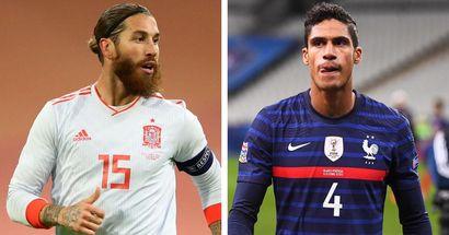Ramos y Varane no pudieron terminar por molestias sus partidos internacionales