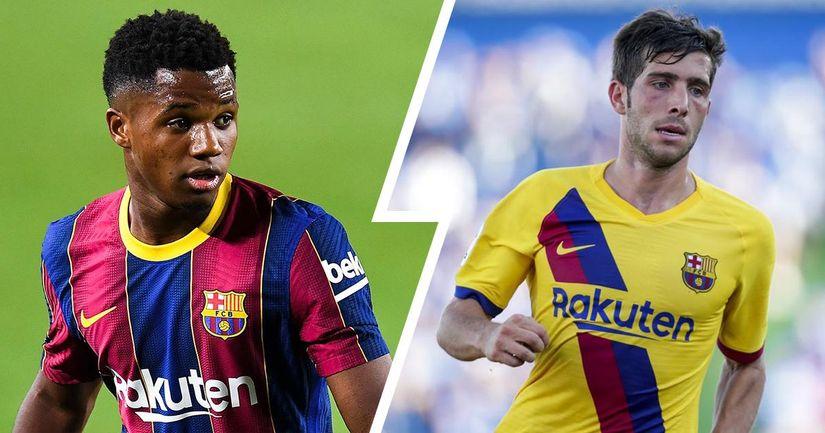 Fati à seulement 20 M€ derrière Messi, Sergi Roberto à 50% de moins: Top 5 des plus grandes augmentations et baisses de valeur de transfert au Barca - logo