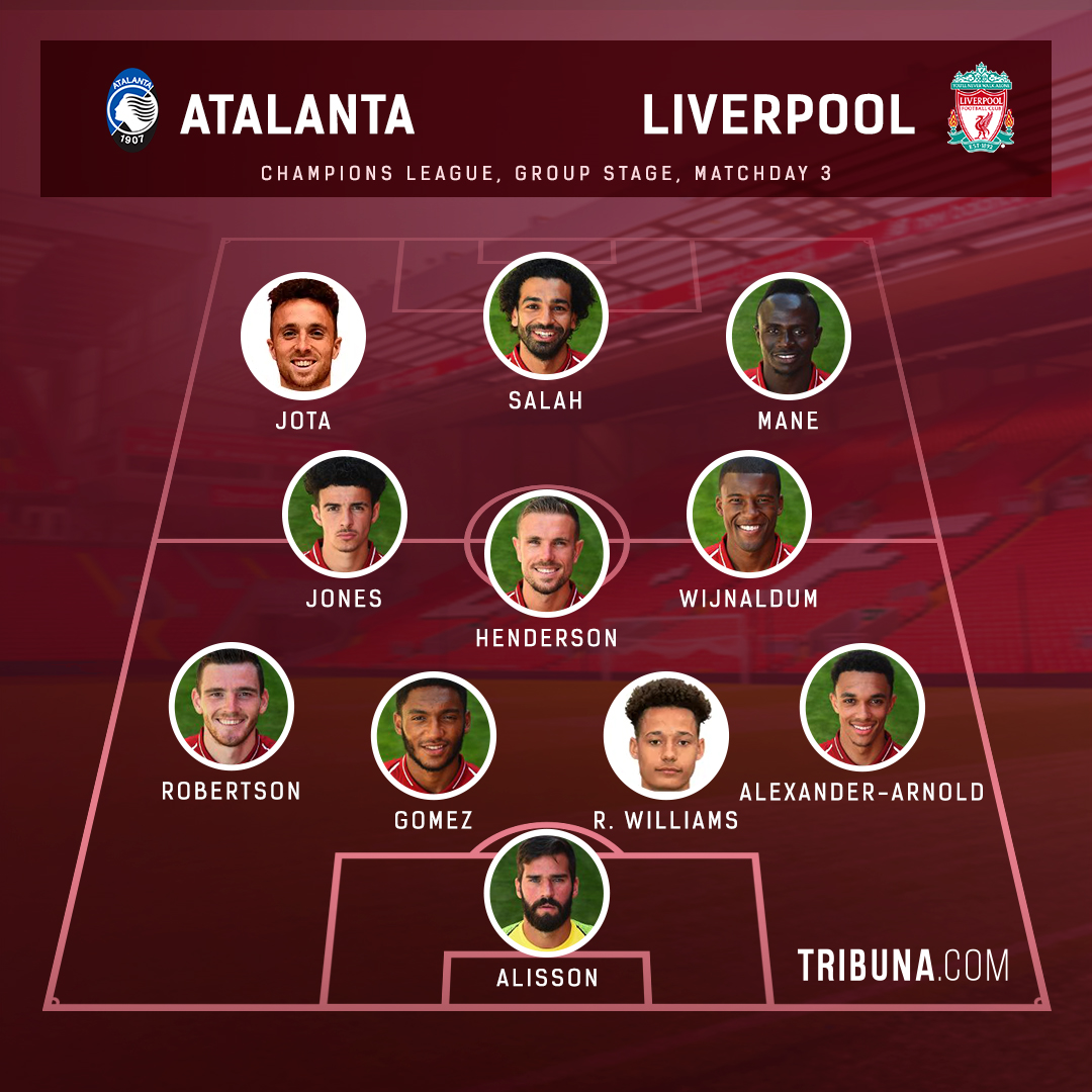 diogo jota to start select your favourite liverpool xi vs atalanta from 2 options favourite liverpool xi vs atalanta